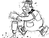 Dibujo de Obrero para colorear