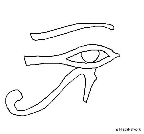 Dibujo de Ojo Horus para Colorear