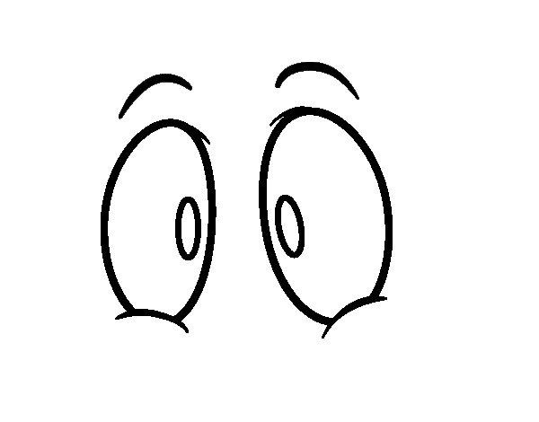 Dibujo de ojos humanos para colorear for Como pintar un ojo