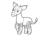 Dibujo de Okapi para colorear