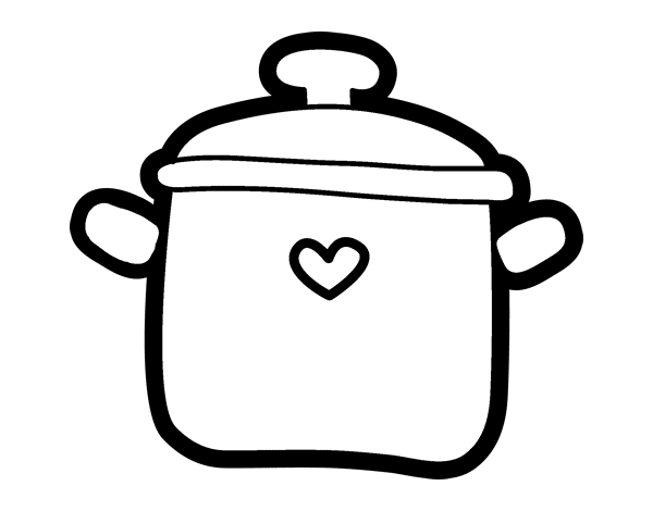 Dibujo de olla para colorear - Dessin marmite ...