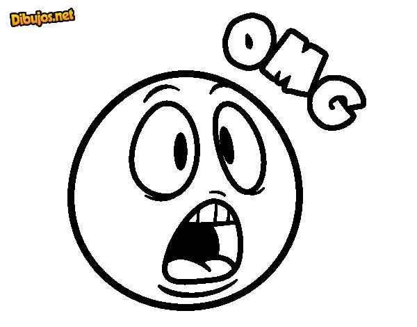 Dibujo de OMG para Colorear