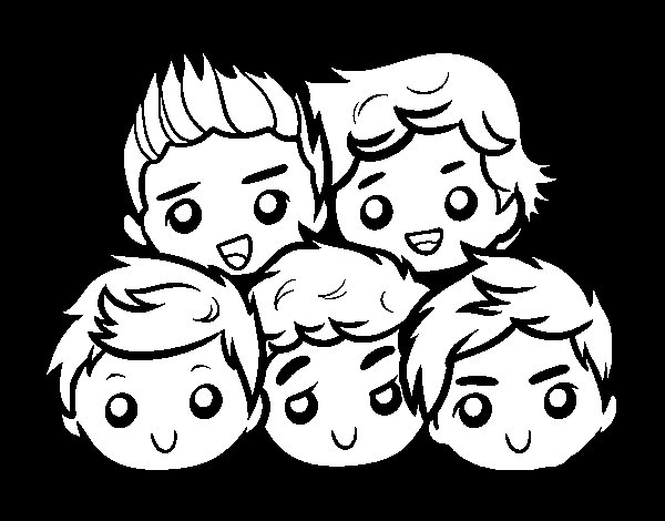 Dibujo de One Direction 2 para Colorear