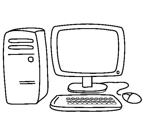 Dibujo de Ordenador 3 para Colorear  Dibujosnet