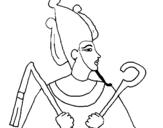 Dibujo de Osiris para colorear