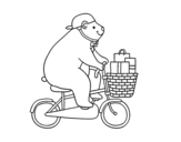 Dibujo de Oso ciclista