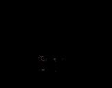 Dibujo de Oso hormiguero peludo para colorear