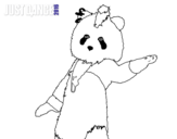 Dibujo de Oso Panda Just Dance