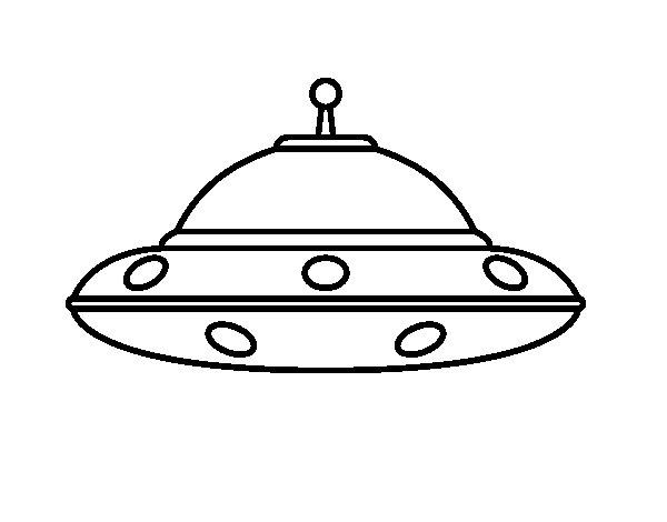 Como Dibujar La Maquina Voladora: Dibujo De OVNI Extraterrestre Para Colorear