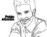 Dibujo de Pablo Alborán primer plano para colorear