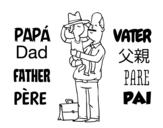 Dibujo de Padre e hijo con sombrero