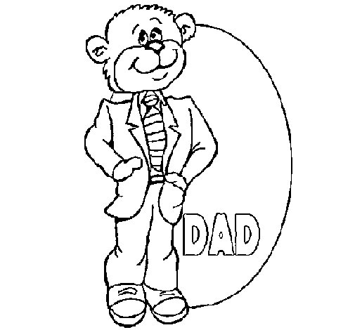 Dibujo de Padre oso para Colorear