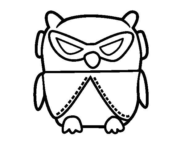 Dibujo de Pájaro DJ para Colorear