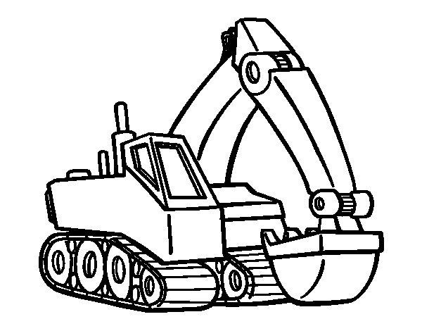 Dibujo de Pala excavadora para Colorear