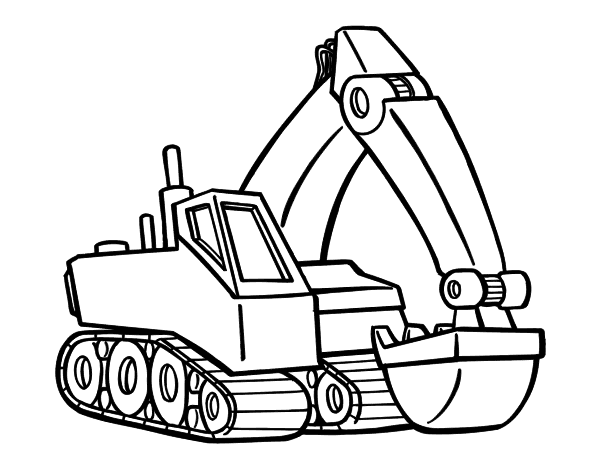 Free Coloring Pages Of Cat Digger Digger Coloring Pages