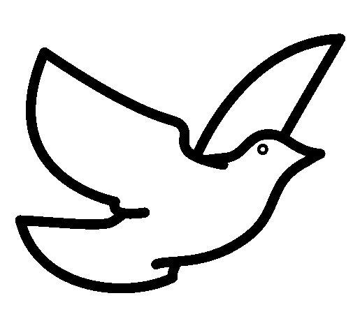Dibujo de Paloma de la paz para Colorear