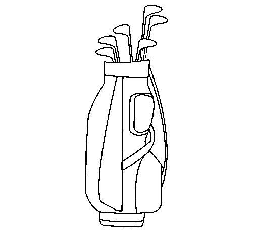 Dibujo de Palos de golf para Colorear