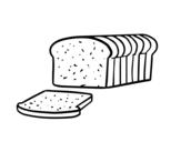 Dibujo de Pan de molde para colorear