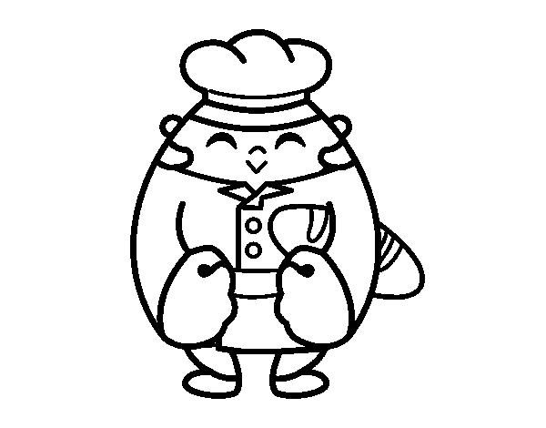 Dibujo de Panadero para Colorear