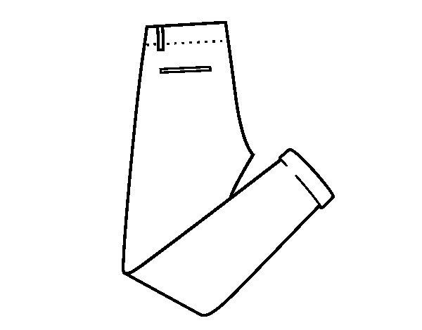 Colorear Dibujo Pantalón En Línea: Dibujo De Pantalones De Vestir Para Colorear