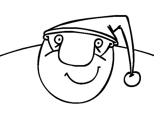 Dibujo de Papá Noel contento para Colorear