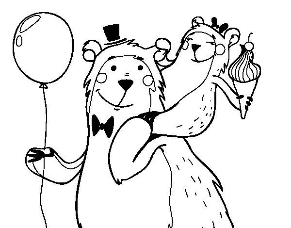Dibujo de Papá oso para Colorear