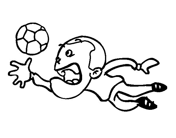 Dibujos De Porteros De Futbol Stunning Futbol Dibujo: Dibujo De Parada De Portero Para Colorear
