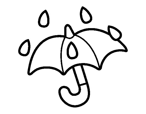 Dibujo de Paraguas abierto para Colorear