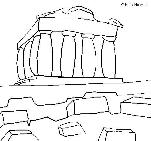 Dibujo de Partenón para Colorear