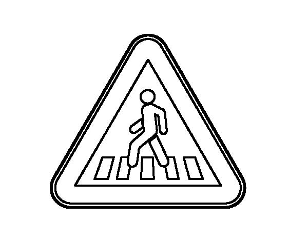 Dibujo de paso de peatones para colorear - Pasos para pintar ...