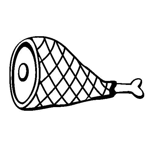 Dibujo de Pata de jamn para Colorear  Dibujosnet
