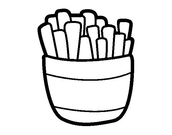 Dibujo de Patatas fritas para Colorear