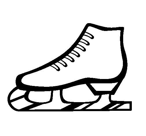 dibujo de patn sobre hielo para colorear