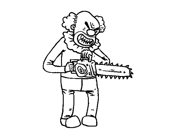 Dibujo de Payaso asesino para Colorear