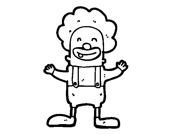 Dibujo de Payaso con un diente para Colorear