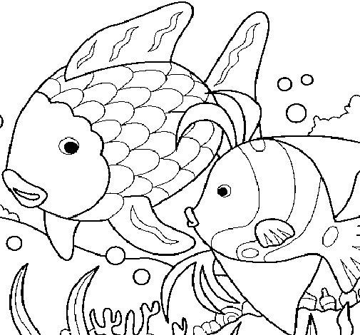 Dibujo de Peces para Colorear  Dibujosnet
