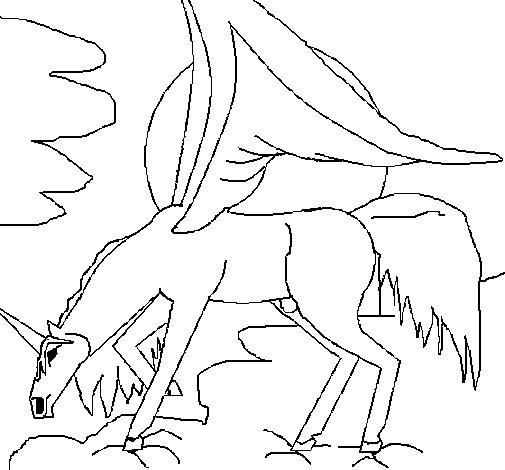 Dibujo de Pegaso 3 para Colorear