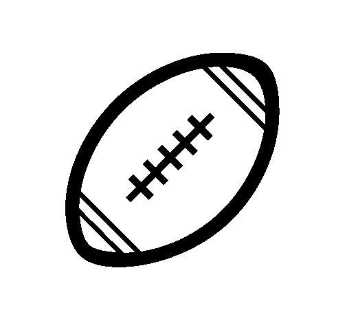 Dibujo de Pelota de fútbol americano II para Colorear
