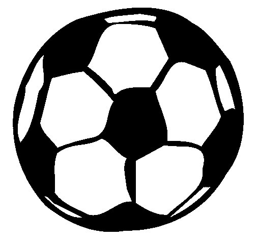 Dibujo de Pelota de fútbol para Colorear