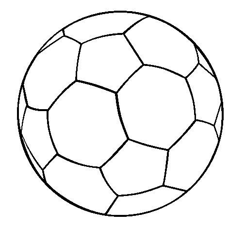 Dibujo de Pelota de fútbol II para Colorear