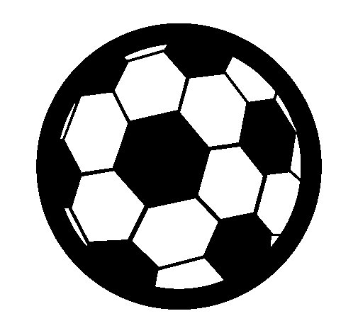 Dibujo de Pelota de fútbol III para Colorear
