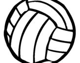 Dibujo de Pelota de voleibol para colorear