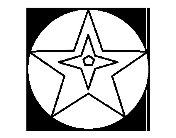 Dibujo de Pelota estrella para Colorear