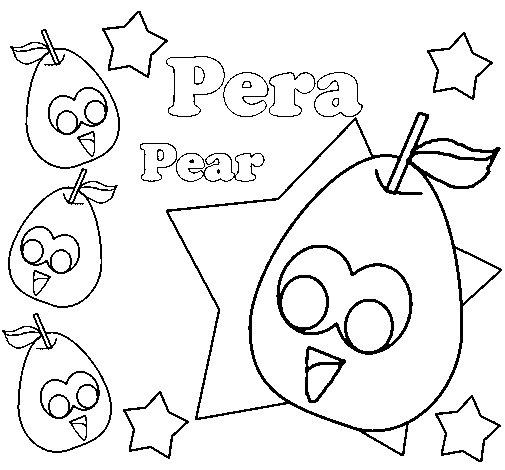 Dibujo de Pera 1 para Colorear