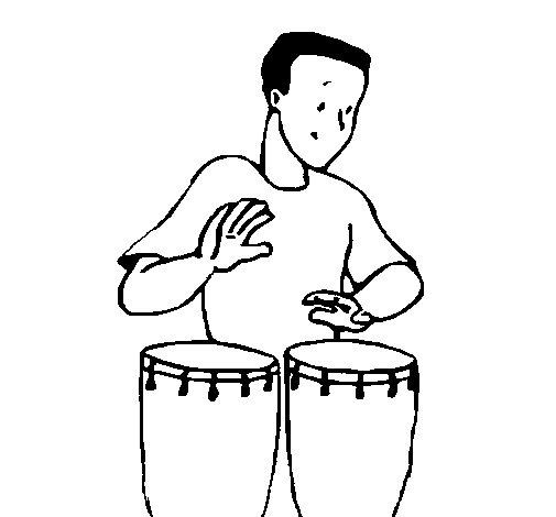 Dibujo de Percusionista para Colorear