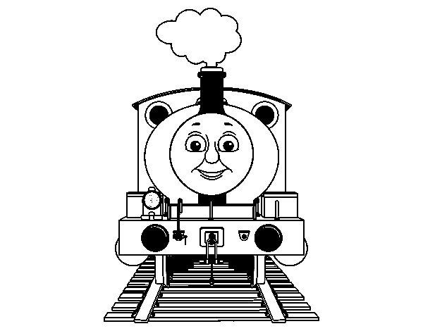 Dibujo de Percy la locomotora para Colorear