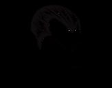 Dibujo de Perfil de Drácula para colorear