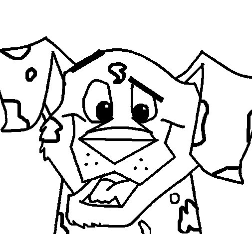 Dibujo de Perro dálmata para Colorear