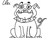 Dibujo de Perro hechizado para colorear