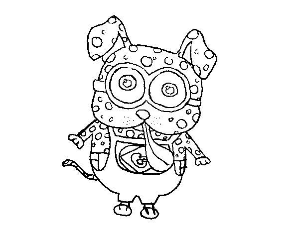 Dibujos Para Colorear De Los Minions Para Imprimir: Dibujo De Perro Minion Para Colorear